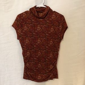 Kenneth Cole NY Large Blouse Red Dotted